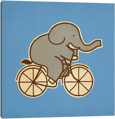 Elephant Cycle #2 Canvas Art Print