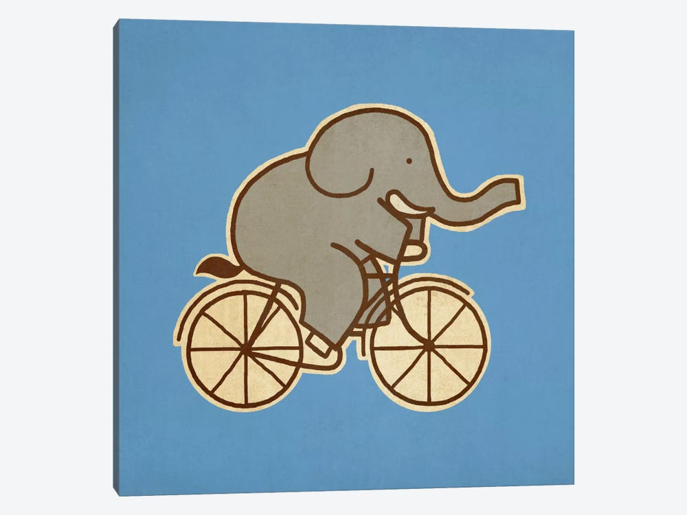 Elephant Cycle #2 by Terry Fan 1-piece Canvas Print