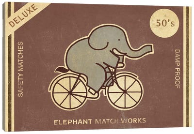 Elephant Match Works Canvas Print #TFN66