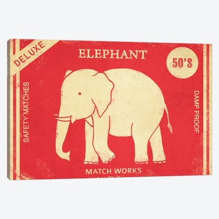 Elephant Safety Matches Canvas Print #TFN67} by Terry Fan Canvas Artwork