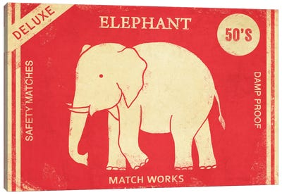 Elephant Safety Matches Canvas Print #TFN67