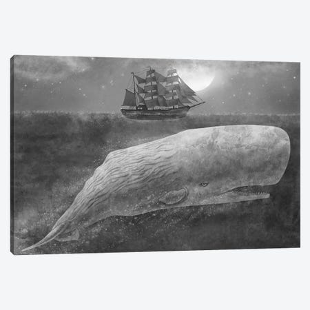 Far From Nantucket Mono Canvas Print #TFN72} by Terry Fan Canvas Artwork