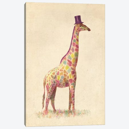 Fashionable Giraffe Canvas Print #TFN73} by Terry Fan Canvas Artwork