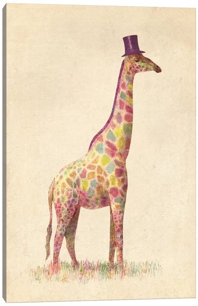 Fashionable Giraffe Canvas Art Print