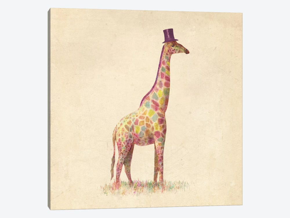 Fashionable Giraffe Square by Terry Fan 1-piece Canvas Artwork