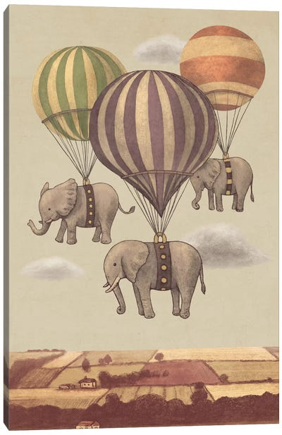 Flight Of The Elephants Canvas Art Print