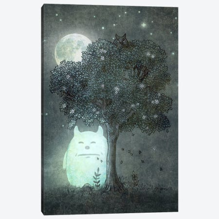 Full Moon Spirit Canvas Print #TFN93} by Terry Fan Canvas Wall Art