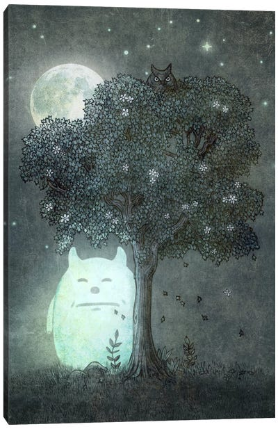 Full Moon Spirit Canvas Art Print