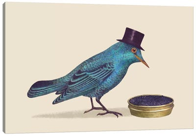 Gentlebirds Prefer Caviar Canvas Art Print