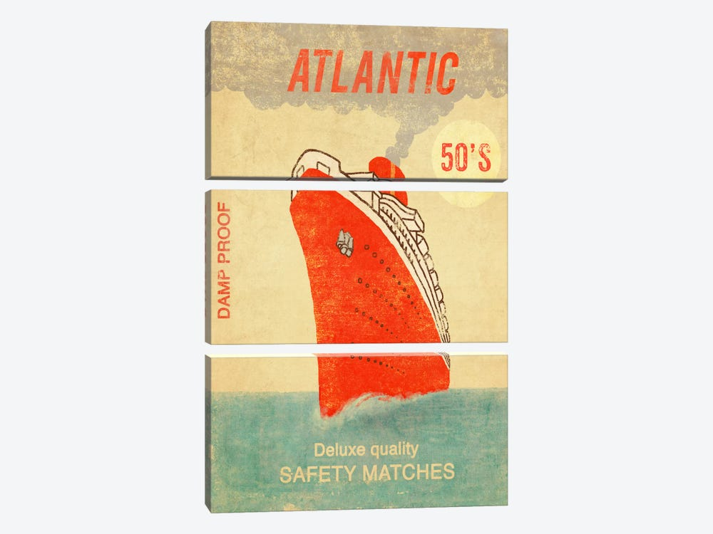 Atlantic Safety Matches 3-piece Canvas Wall Art