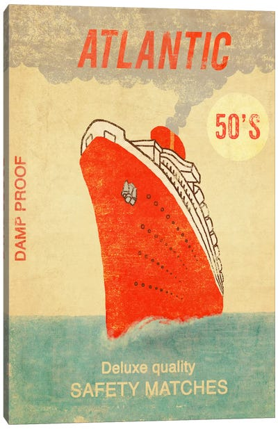 Atlantic Safety Matches Canvas Art Print