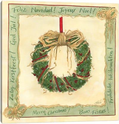 Raffia Wreath I Canvas Art Print