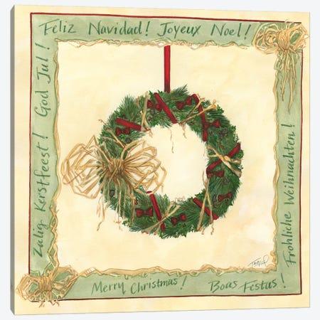 Raffia Wreath II Canvas Print #TFR3} by Tara Friel Canvas Art