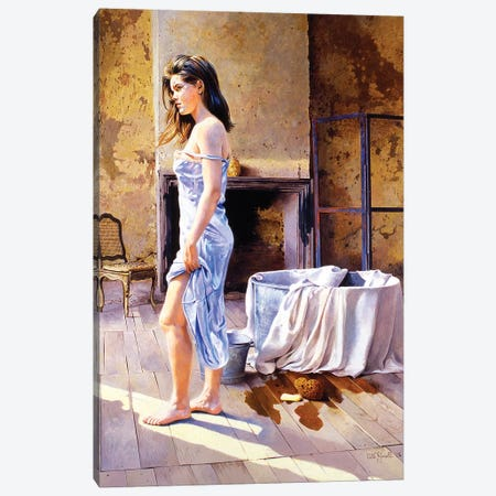 Elisa e la Tinozza Canvas Print #TGA10} by Titti Garelli Canvas Artwork