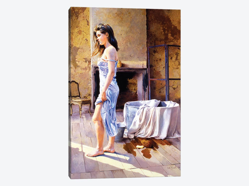 Elisa e la Tinozza by Titti Garelli 1-piece Canvas Art