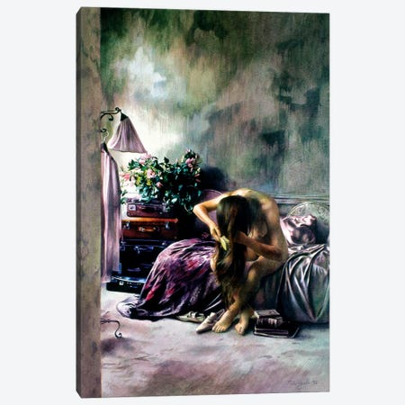 Interno Viola 3-Piece Canvas #TGA17} by Titti Garelli Art Print