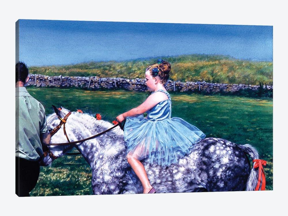 La cavallerizza Scozzese by Titti Garelli 1-piece Canvas Art Print