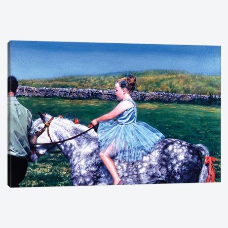 La cavallerizza Scozzese Canvas Print #TGA19} by Titti Garelli Canvas Art