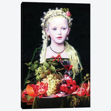 La Figlia di Jan Davidzs de Heem Canvas Print #TGA20} by Titti Garelli Canvas Art Print