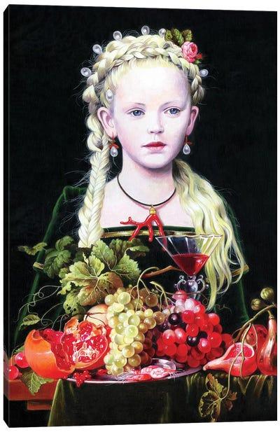 La Figlia di Jan Davidzs de Heem Canvas Art Print