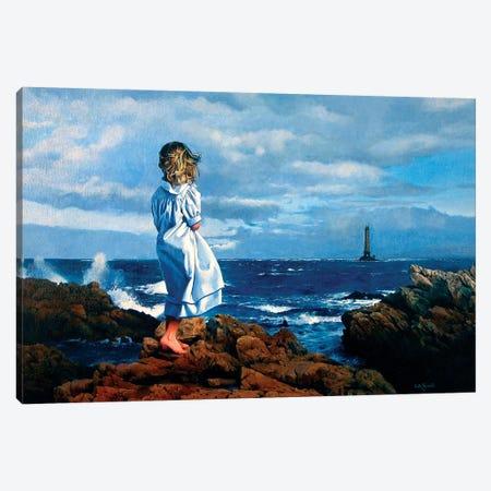 La Ragazza e il Mare Canvas Print #TGA22} by Titti Garelli Art Print
