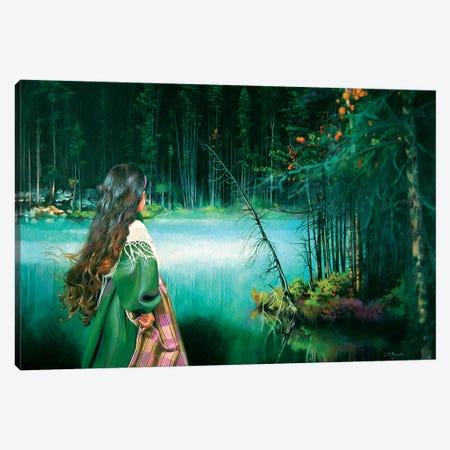 La Ragazza e la Montagna Mistica Canvas Print #TGA23} by Titti Garelli Canvas Art Print