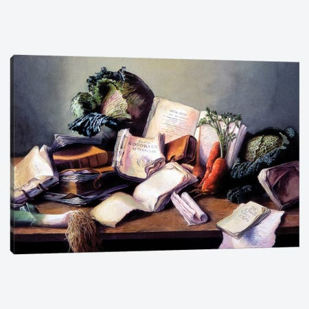 Libri e Cavoli Canvas Print #TGA29} by Titti Garelli Art Print