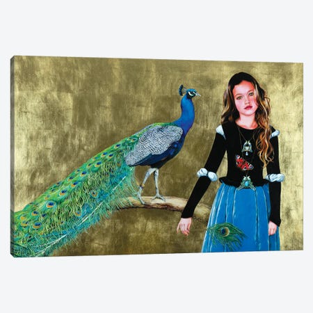 Pavonia Canvas Print #TGA32} by Titti Garelli Canvas Artwork