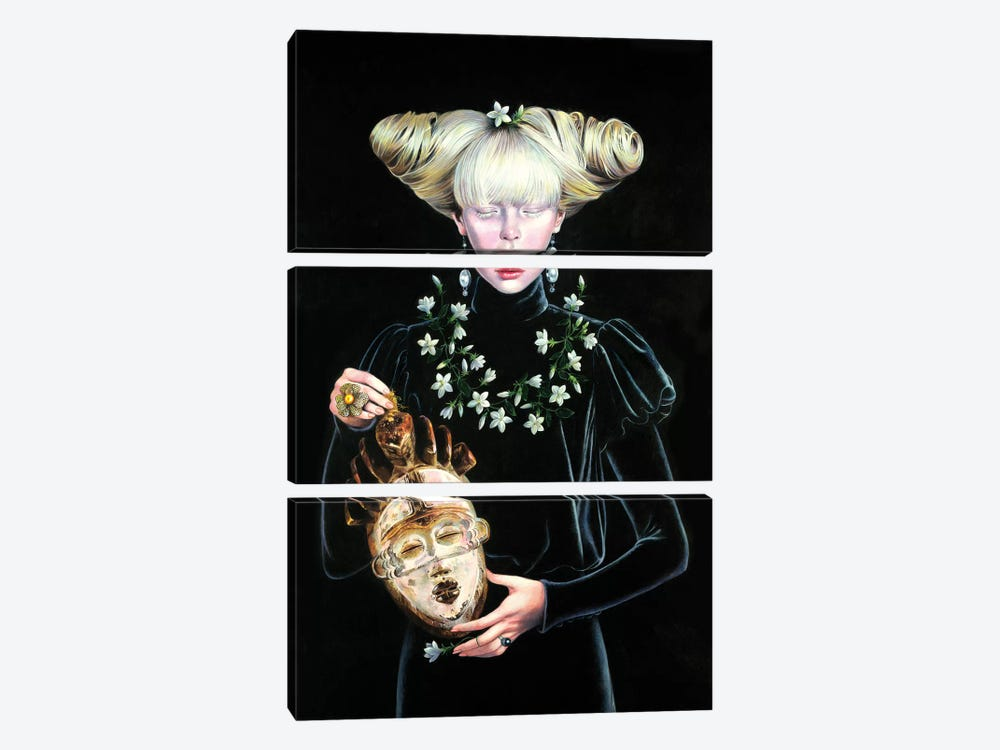 Punu Tsangui Queen II by Titti Garelli 3-piece Canvas Art Print