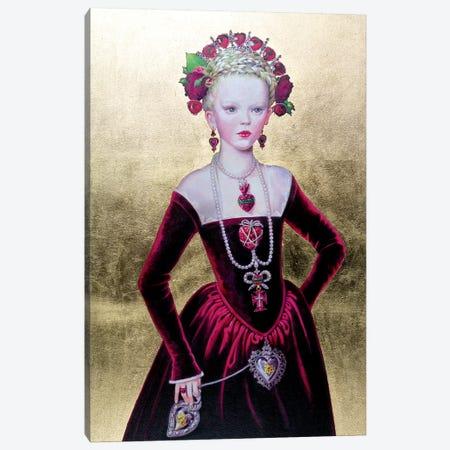Regina di Cuori von Fondo Oro 3-Piece Canvas #TGA34} by Titti Garelli Canvas Print