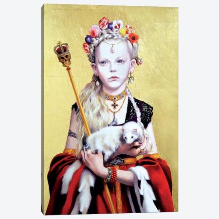 Regina Gothica con Ermellino Canvas Print #TGA36} by Titti Garelli Canvas Print