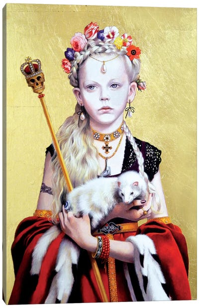 Regina Gothica con Ermellino Canvas Art Print