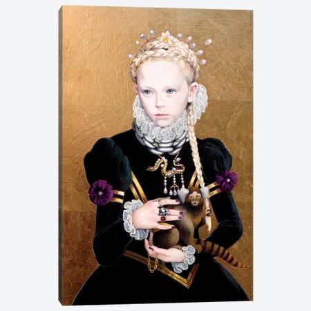 Regina Gothica con Scimmietta Canvas Print #TGA37} by Titti Garelli Art Print