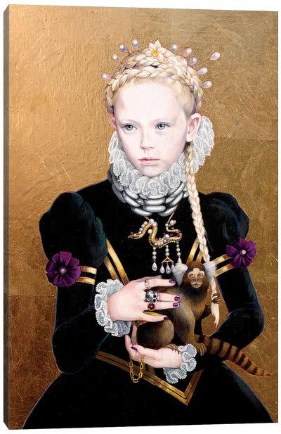 Regina Gothica con Scimmietta Canvas Art Print