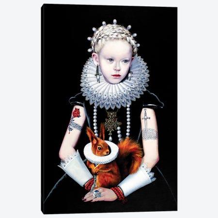 Regina Gotica con Scoiattolo I Canvas Print #TGA38} by Titti Garelli Canvas Art