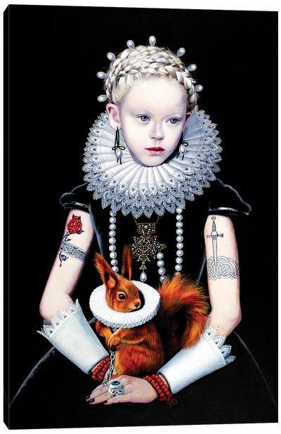 Regina Gotica con Scoiattolo I Canvas Art Print
