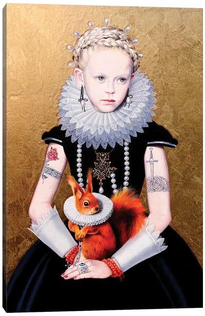 Regina Gotica con Scoiattolo II Canvas Art Print