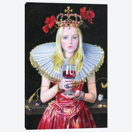 Barolo Queen Canvas Print #TGA45} by Titti Garelli Canvas Artwork