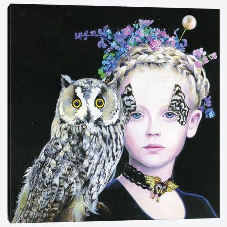 Il Gufo e La Principessa Canvas Print #TGA47} by Titti Garelli Canvas Wall Art