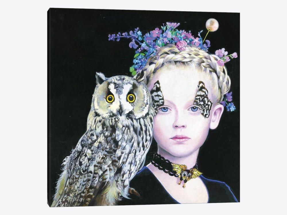 Il Gufo e La Principessa by Titti Garelli 1-piece Canvas Artwork
