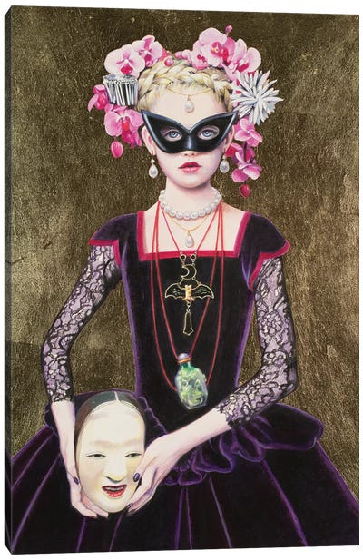 Noh Mask Queen Canvas Art Print