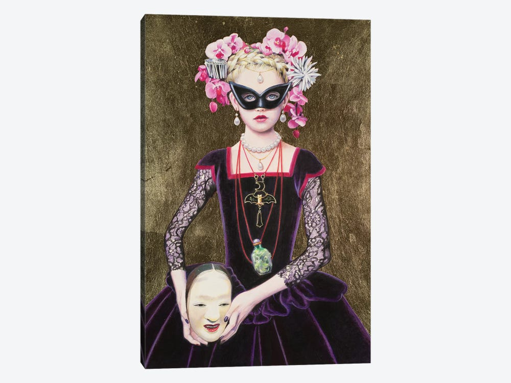 Noh Mask Queen by Titti Garelli 1-piece Canvas Artwork