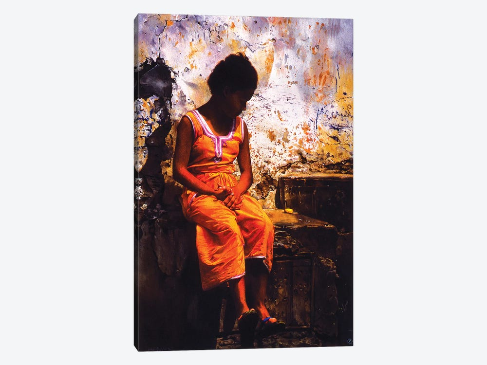 Bambina Marocchina by Titti Garelli 1-piece Canvas Print