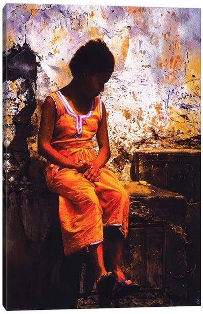 Bambina Marocchina Canvas Art Print