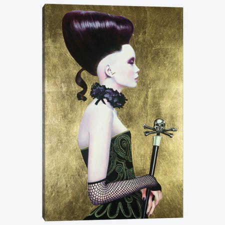 Punu Dark Queen Canvas Print #TGA53} by Titti Garelli Canvas Art
