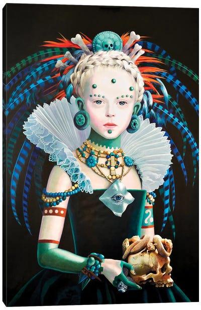 Regina Maya In Verde Canvas Art Print