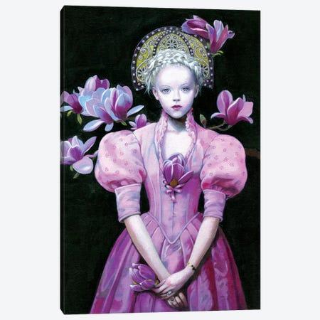 Black Magnolia Canvas Print #TGA57} by Titti Garelli Canvas Art Print