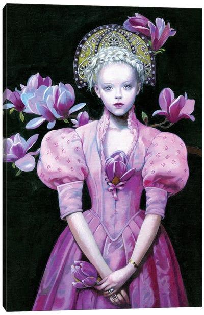Black Magnolia Canvas Art Print