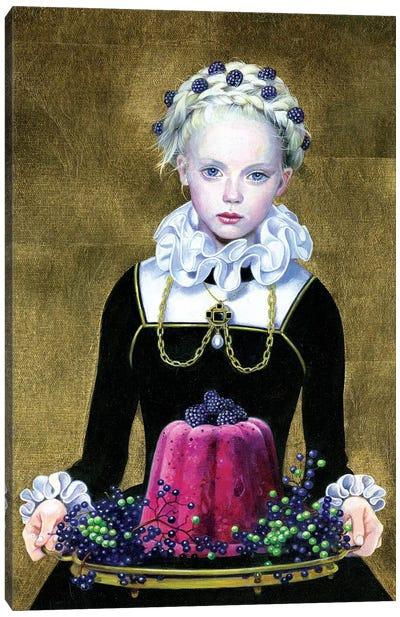 Blackberry Pudding Canvas Art Print