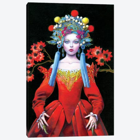 China Red Queen Canvas Print #TGA59} by Titti Garelli Canvas Art